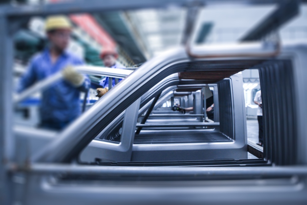 Modern,Automatic,Automobile,Manufacturing,Workshop.,Mechanical,Pressing,Forming,Automobile,Door.