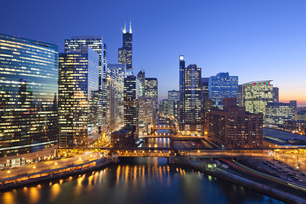 City,Of,Chicago.,Image,Of,Chicago,Downtown,And,Chicago,River